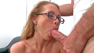 Killer blonde cutie Natasha gets pounded hard on a couch