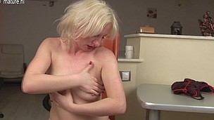 Golden-Haired mother I'd like to fuck playing with herself
