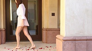 Holly Michaels got trapped into a passionate enjoy by rose petals