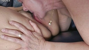 Three wicked old and juvenile lesbian babes do it on the couch