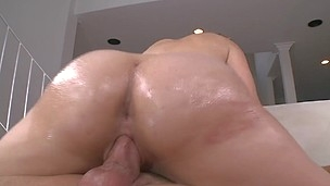 Brave ash-blonde with big backdoor is having deep fuck from behind