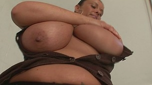 Large breasted mother I'd like to fuck getting raw and wild
